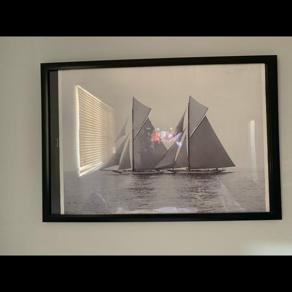 Other - Beautiful 11x18 Sailboat Wall Art